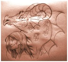 Haelyn and Volos by y2jenn