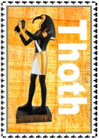 Thoth stamp by Ahkilah