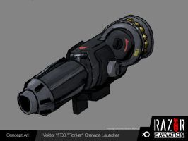 Weapon - 'Plonker' Grenade Launcher by HozZAaH