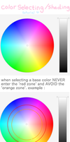 color selecting+shading tutorial by lunacybunny
