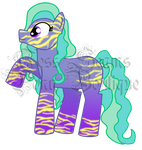 Blue zebra print pony adopt auction [OPEN] by Pony-boutique