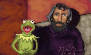 Kermit the frog and Jim Henson by HayNateHaywood