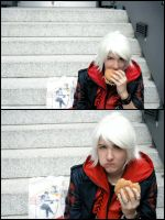 Nero and his Burger by Chibi-Dante