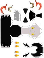 Papercraft Karkat Instructions -Lineless- by sunmarsh