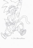 Kid Goku Fist Up by MiraiWarriorWithin