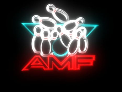 American Machine and Foundry (AMF) Neon Sign by nenglehardt