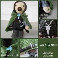 Aragorn - Lord of the Rings Plushies by VelvetKey