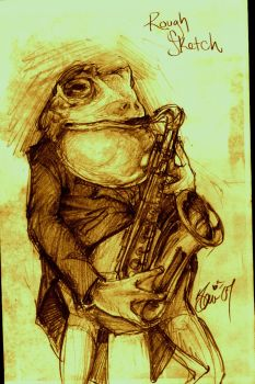 Toad and Sax by babsdraws