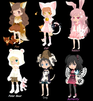 Animal Dream Selfy adopts ~Closed~ by Bubbles-Layne