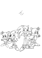 Sonic Generations WIP: SONIC n TAILS by ChatookaArt