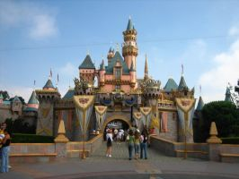 disneyland castle day time by shutterbugmom