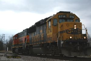 BNSF 8714 at Nichols Junction by labrat-78