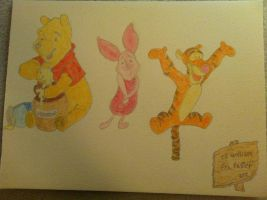 Winnie the Pooh, Piglet and Tigger by Asijan