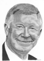 Sir Alex Ferguson by drawman61