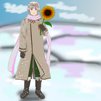 APH: Winter and sunflower by dark-secret1