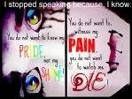I stopped talking because by Sparkey38