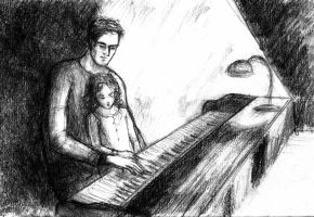 Christmas Sketches - Piano Lesson by LittleSeaSparrow