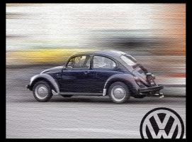 Volkswagon on Canvas by retro-pixel