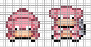 Mini: Slowpoke, Slowbro by Hama-Girl