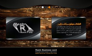 Raein business card by arsalan-design