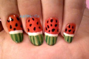 Watermelon Nails by SoCUTEicleNails
