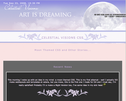 Celestial Visions CSS by DarkSoulOfLuthien