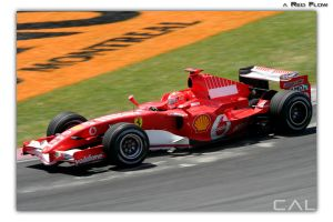 F1 Race: a Red Flow by Calzinger