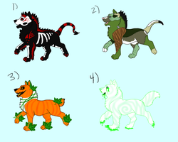 Halloween Pup Adopts (2/4 open) by KamiraWolfDemon