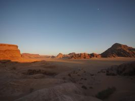 sunset at wadi rum by wam17