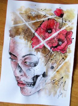 watercolor girl by PoisonIky