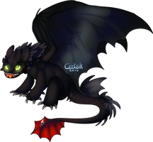 Twist Fate Contest: Bad Toothless by Cootsik