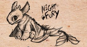 HTTYD: Baby Night Fury by Crownflame