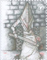 Silent Hill Stamp by weedeatermania