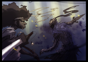Afro vs Artorias by Zaeta-K