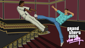 Tommy Vercetti Vice City Karate Kick by RAWTalent93