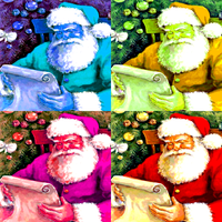 Warhol santa-claus-reading by Richard67915