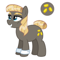 My Little Pony OC: Golden Gift [preview] by zidanerfox