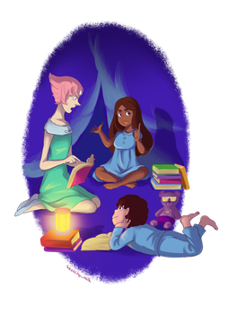 [SU] Little Book Club by sketchy-milk