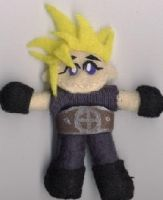 FF7 Cloud - mascot plushie by cideon