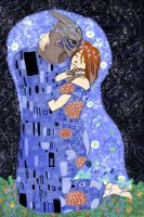 Kissing you in the cosmos by Aominel