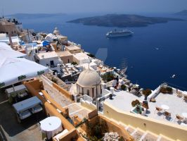 Fira by day by Asimakis