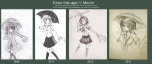 Annual meme: before and after by midori137