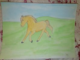 Watercolor horse by Nakuichia