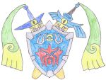 Master Sword and Hylian Shield Pokemon by Bluedragon48