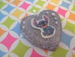 Heart-Shaped Resin Pendant (Stitch) by Lord-Ackbar