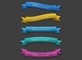 RIBBONS by FreePSDDownload