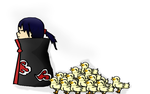 itachi and a bunch of ducklings (read desc) by somerrocks