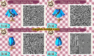 ACNL Hilbert's Jacket and Bag by meglish