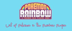 List of Pokemon in the Rainbow Region
