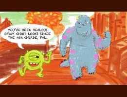 When Mike met Sully: Monster Buddies by tarunbanned